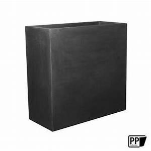 Pflanzkasten 100 Cm : pflanzkasten schwarz aus fiberstone als raumtrenner geeignet ~ Watch28wear.com Haus und Dekorationen