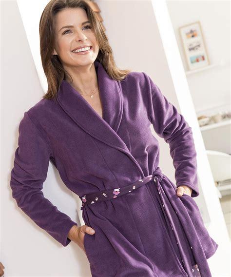 interim femme de chambre robe de chambre en polaire femme great peignoir lopard