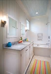 Ceiling Ideas For Bathroom - small cottage with turquoise interiors home bunch interior design ideas