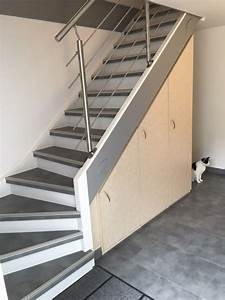 Habillage Escalier Bois : moderniser rampe escalier bois yj35 jornalagora ~ Dode.kayakingforconservation.com Idées de Décoration