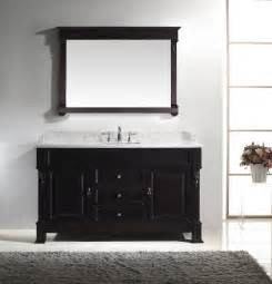 adorna 60 inch white double sink bathroom vanity in set