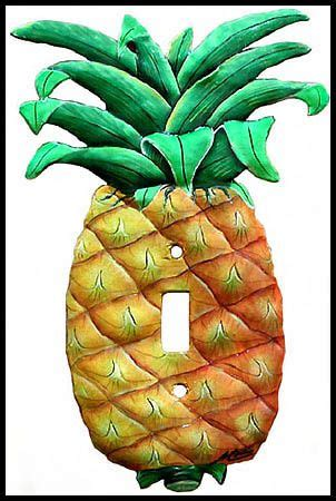 pineapple light switch cover pineapple decorative switch plate cover hand painted