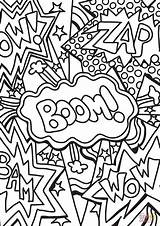 Coloring Pages Boom Wow Zap Pop Printable Colouring Culture Pow Lichtenstein Roy Sheets Supercoloring Adult Colour Drawing Superhero Malvorlagen Kunst sketch template