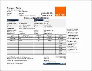 Cash Received Receipt Template Business Services Receipt Template At Receipts Templates