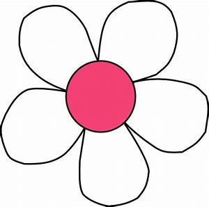 White Pink Daisy Clip Art at Clker.com - vector clip art ...