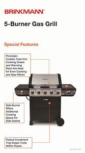Brinkmann 5-burner Propane Gas Grill-810-2511-s