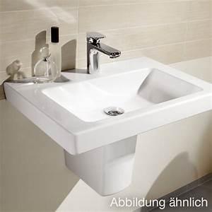 Waschtisch Villeroy Boch : villeroy boch subway 2 0 waschtisch b 60 t 47 cm mit 1 hahnloch 71136001 ~ Frokenaadalensverden.com Haus und Dekorationen