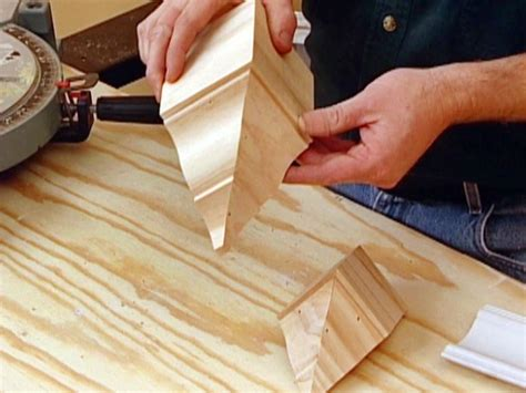 how to cut crown molding on kitchen cabinets how to install crown molding hgtv 9722