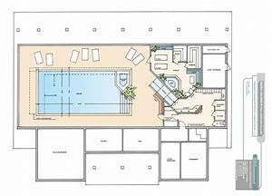 plan et image de villa joy studio design gallery best With plan de maison avec piscine interieure