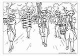 Parade July Coloring Pages Fourth Colouring Adult 4th Marching Activityvillage Classroom Band Printable Bear Helpers Explore Independence sketch template