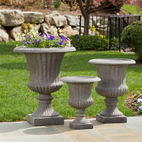 Outdoor Vases And Urns by Alfresco Home Scanalata Urn Planter Pietra Planters At