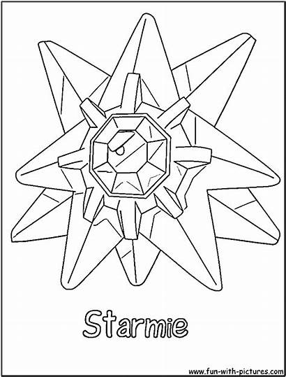 Pokemon Starmie Coloring Fun Printable
