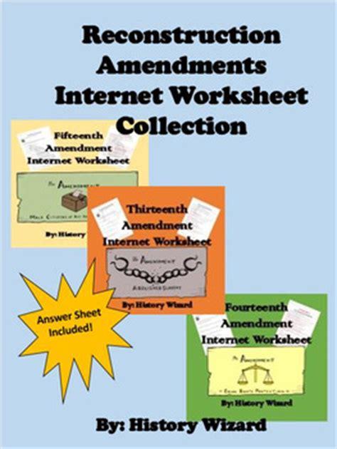 Reconstruction Amendments ( By History Wizard  Teachers Pay Teachers