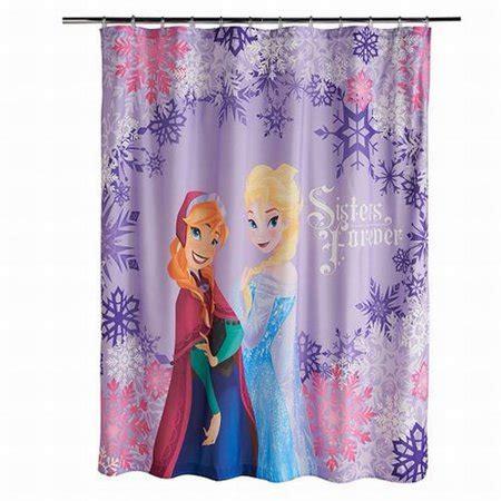 frozen shower curtain disney frozen microfiber shower curtain forever