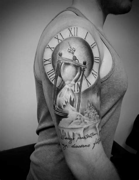 30 Broken Hourglass Tattoo Designs For Men - Time Ink Ideas
