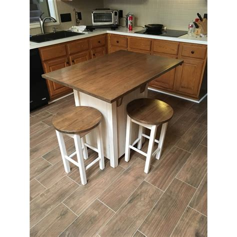 small kitchen island with bar stools small primitive kitchen island in counter height with 2 stools 9336