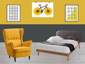 chambre jaune et gris idees et inspiration deco clem With deco chambre gris et jaune