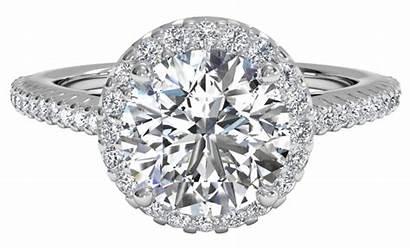 Engagement Ring Diamond Band Halo Popular French