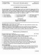 Resume Sample For IT PROJECT MANAGER IT Project Manager CV Template Project Management HR Project Manager CV Example Example Financial Project Manager Resume Free Sample