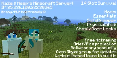 Come Join Our Rapidly Expanding Brony Minecraft Server! =d