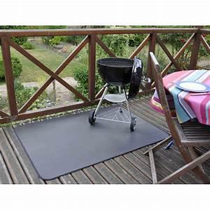Tapis de protection terrasse pour plancha et barbecue for Tapis de sol avec plaid de protection canapé