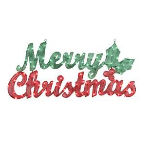shop gemmy pre lit merry christmas sign with constant clear white incandescent lights at lowes com