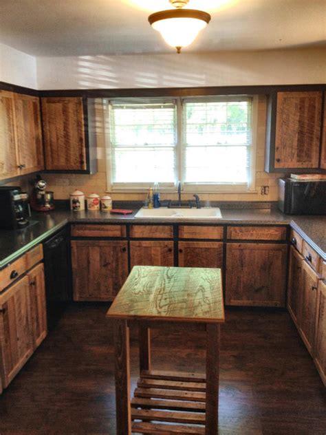 cabinet doors rustic kitchen atlanta   rusted