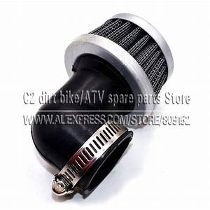 35mm Air Filter 90 Degree Right Angle Pod Wire Mesh