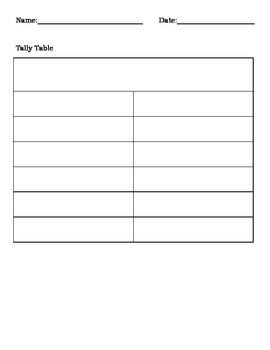 blank graph templates tally table picture graph