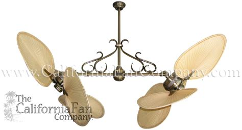 twin star ii ceiling fan twin star ii double ceiling fan with natural palm blades