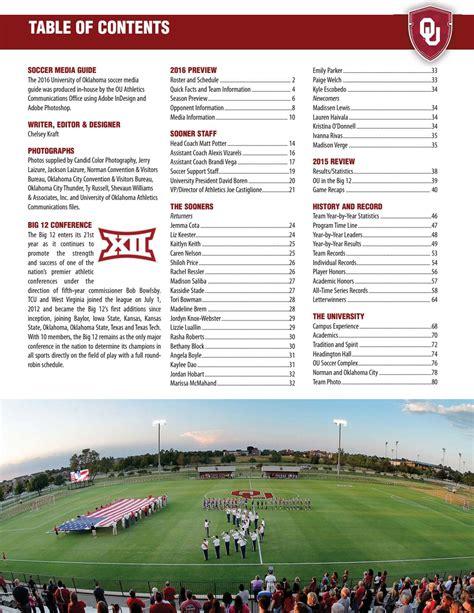 oklahoma soccer media guide  ou athletics issuu