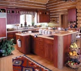 island style kitchen design log home kitchens pictures design ideas