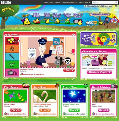 cbeebies website in non dramatic relaunch