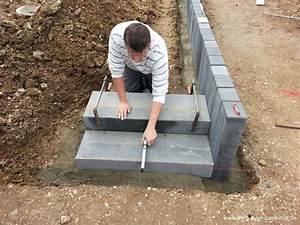 Terrasse Bauen Beton : podest mit palisaden abgestellt gartengestaltung mit beton wir bauen dann mal ein haus ~ Orissabook.com Haus und Dekorationen
