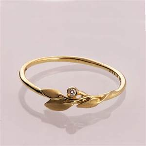 leaves diamond ring no 1 14k gold and diamond engagement With no diamond wedding rings