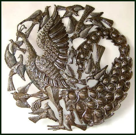 Decorative Metal Banding Australia by Peacock Metal Wall Decor From Haiti Metal