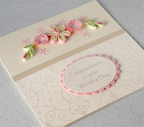 Paper Daisy Cards: Quilled Engagement card