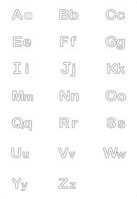 Alphabet Letter Templates For Teachers by 30 Alphabet Letters Free Alphabet Templates