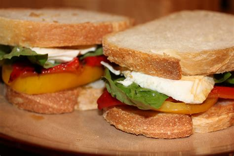 caprese sandwich cooking at home caprese sandwiches with roasted red pepper