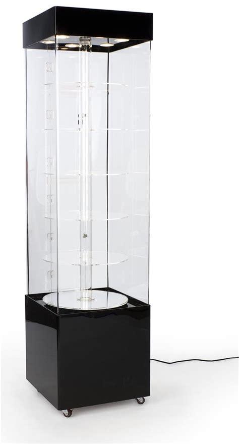 rotating display case acrylic  height
