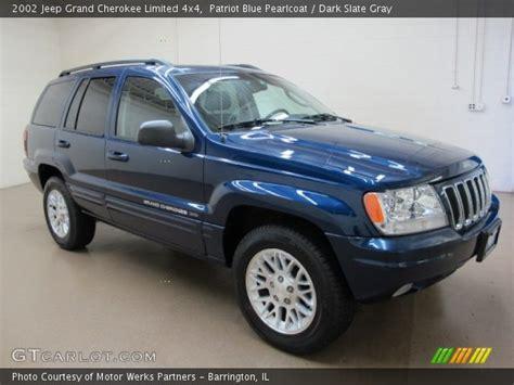 blue grey jeep cherokee patriot blue pearlcoat 2002 jeep grand cherokee limited