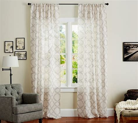 trellis pattern curtains kendra trellis sheer drape pottery barn