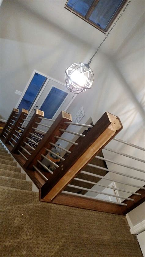 rebar railing  images stair railing makeover diy