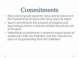 Personal Commitment Statement Examples Effective Academic Support For College Student Athletes