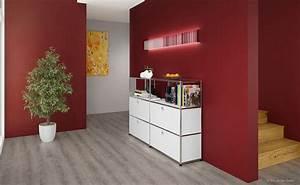 Welche Farbe Passt Zu Hellgrau : dunkelrote wandgestaltung im flur kolorat ~ Bigdaddyawards.com Haus und Dekorationen