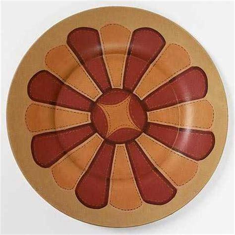 painted wood quilt pattern plate decorative plates  bowls primitive decor factory