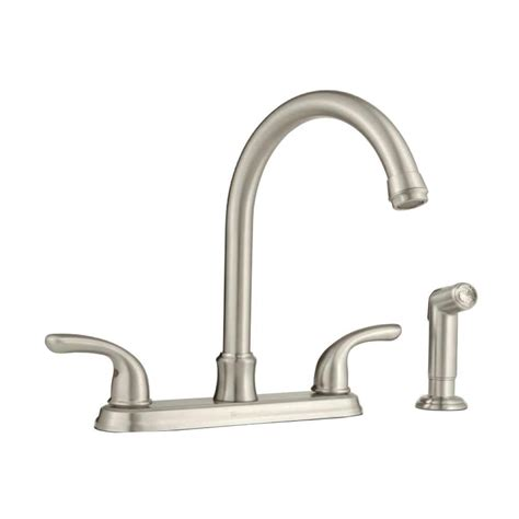 2 handle kitchen faucet with side sprayer glacier bay builders 2 handle standard kitchen faucet with