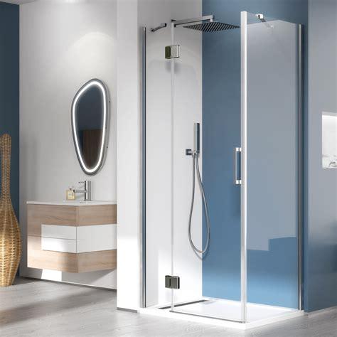 box doccia parete fissa box doccia 90x90 anticalcare trasparente apertura battente