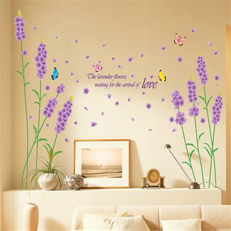 stickers deco chambre sticker mural fleur autocollant romantique
