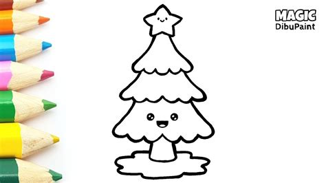 pintar dibujos navidenos dibujar  colorear arbol de